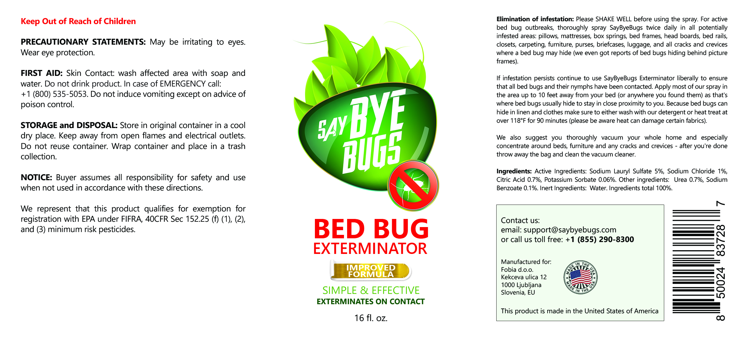 saybyebugs - get rid of bed bugs